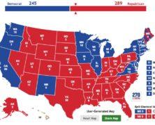 Trump's 289 Electoral College Votes